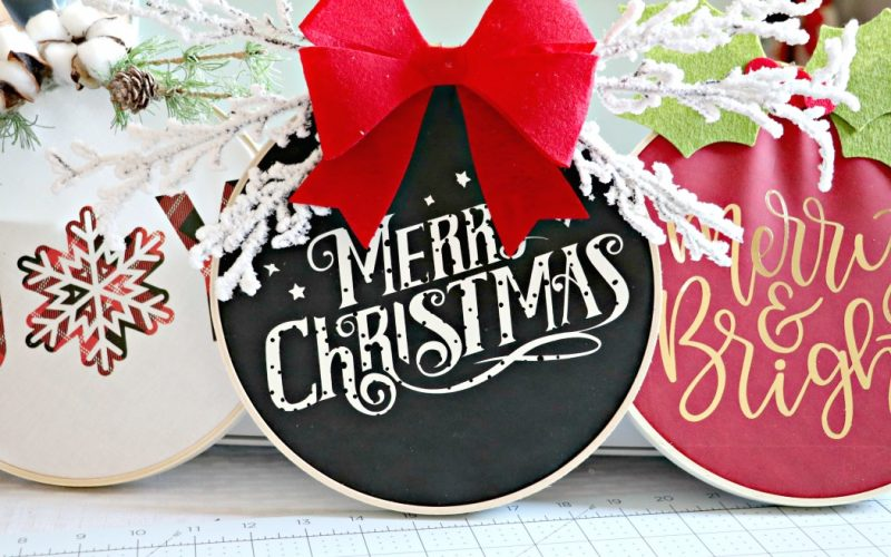 5 Reasons Why I love my Cricut Explore Air 2 + DIY Christmas Fabric Embroidery Hoop Wreath