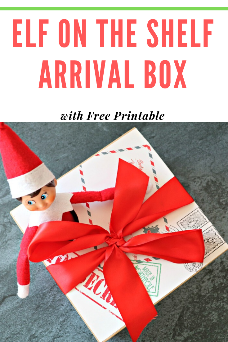 FREE PRINTABLES: Elf on The Shelf Arrival Box & Vintage Christmas Postage Stickers