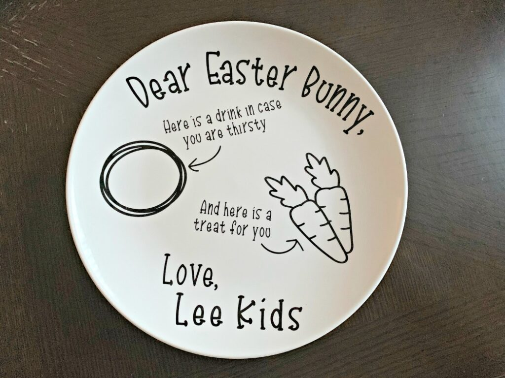 FREE Easter Bunny Plate SVG