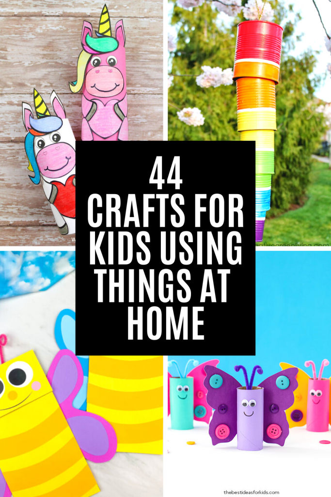 Crafts for kids using recycled materials found at home