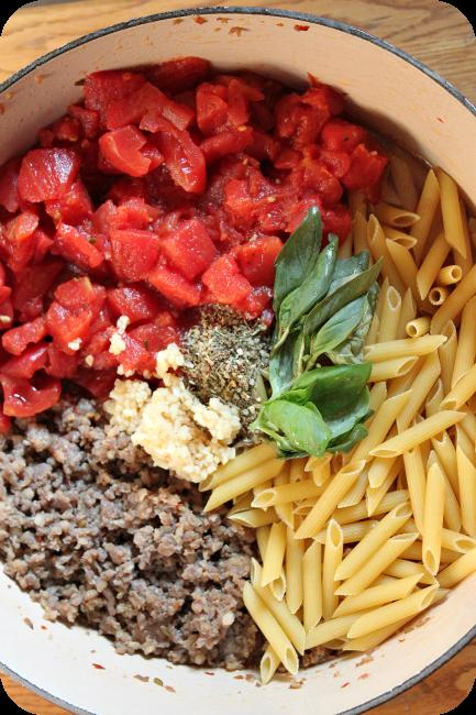 one pot pantry pasta