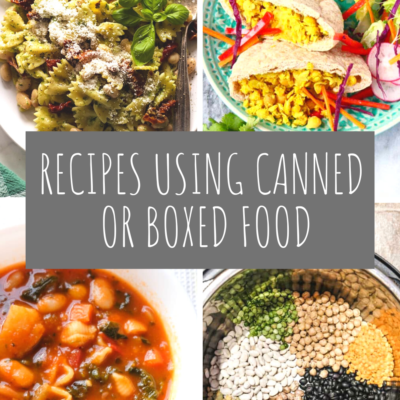 Recipes Using Canned or Boxed Food