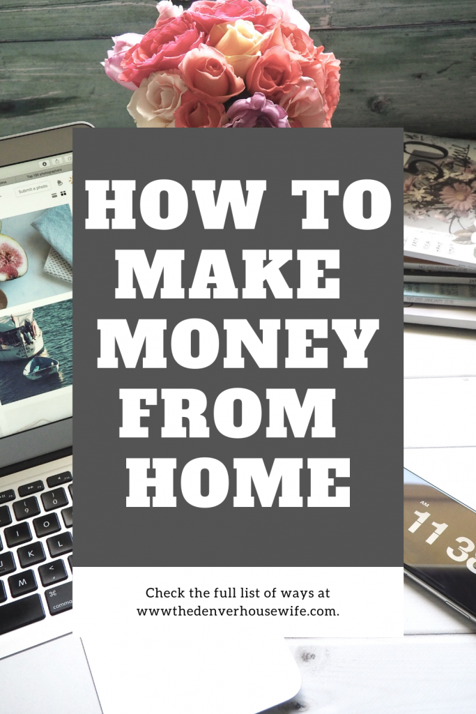 how to make cash money from home on the internet