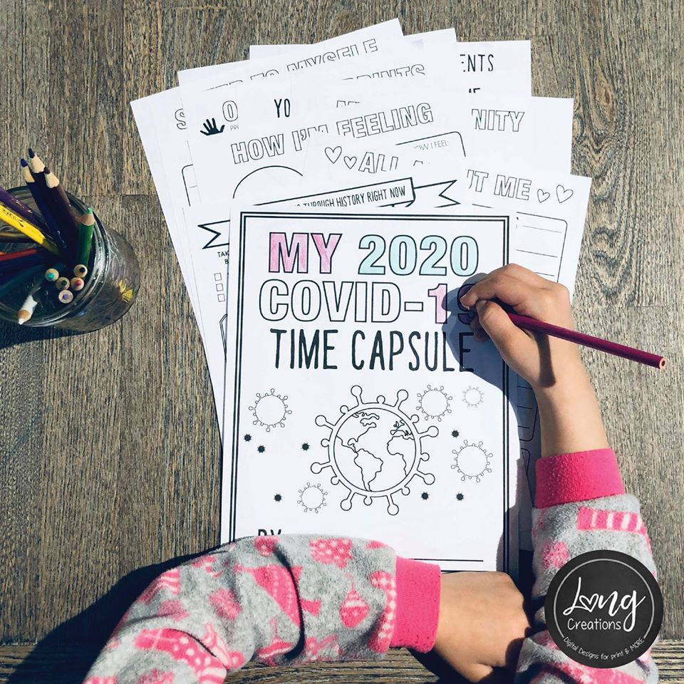 COVID-19 Time Capsule Journal for Kids Long Creations