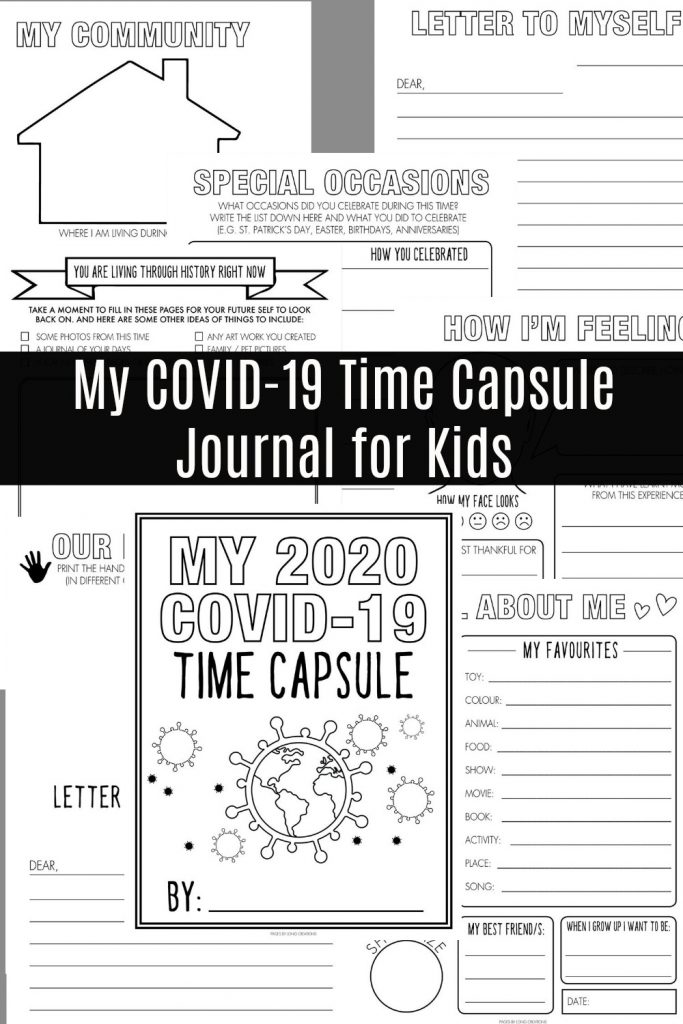 My COVID 19 Time Capsule Journal for Kids