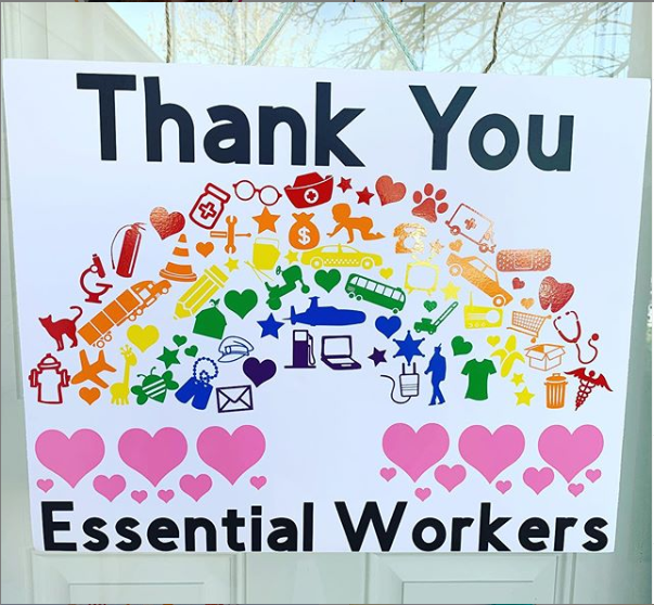 Thank You Essential Workers A world of Hearts Printable