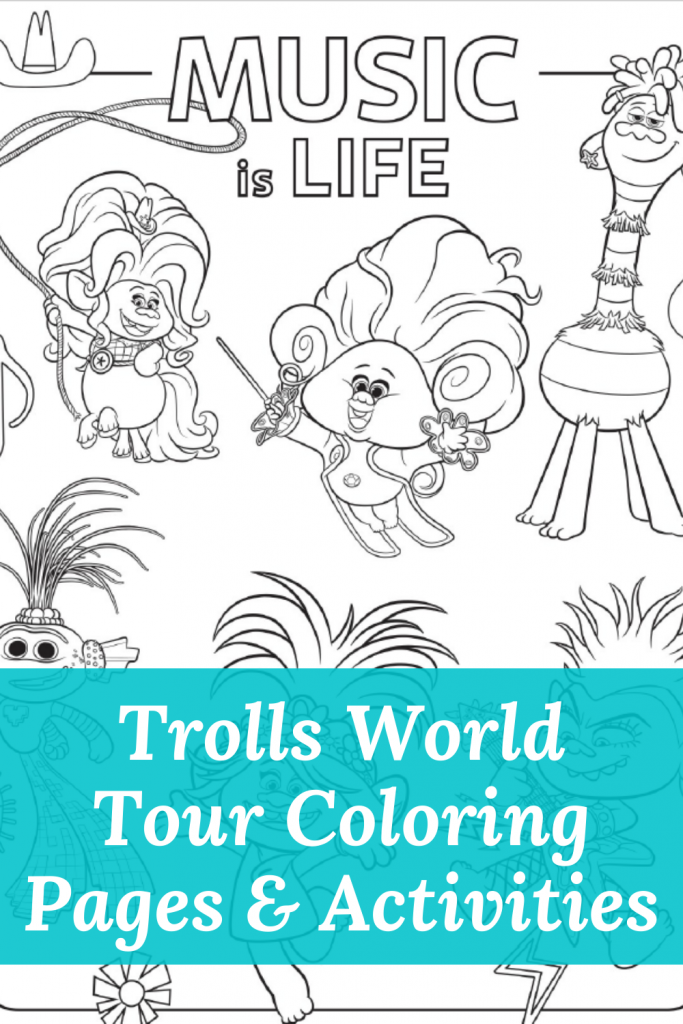Trolls World Tour Coloring Pages Printables The Denver Housewife