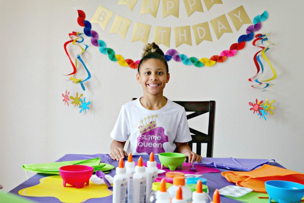 how to have a slime birthday party