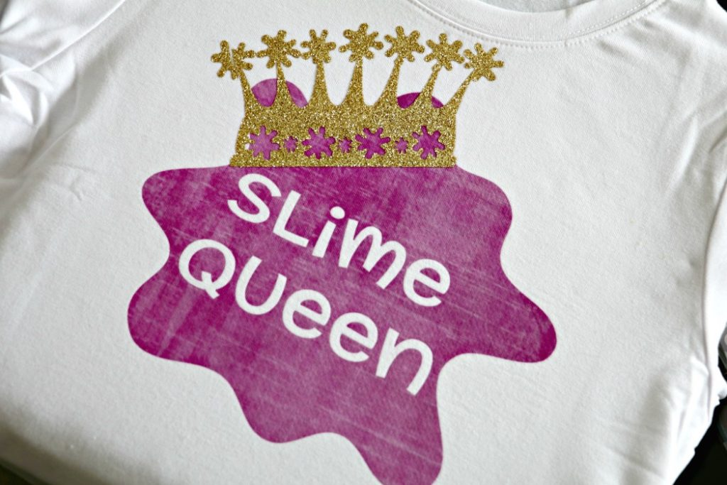 Slime Queen Birthday Shirt for Kids