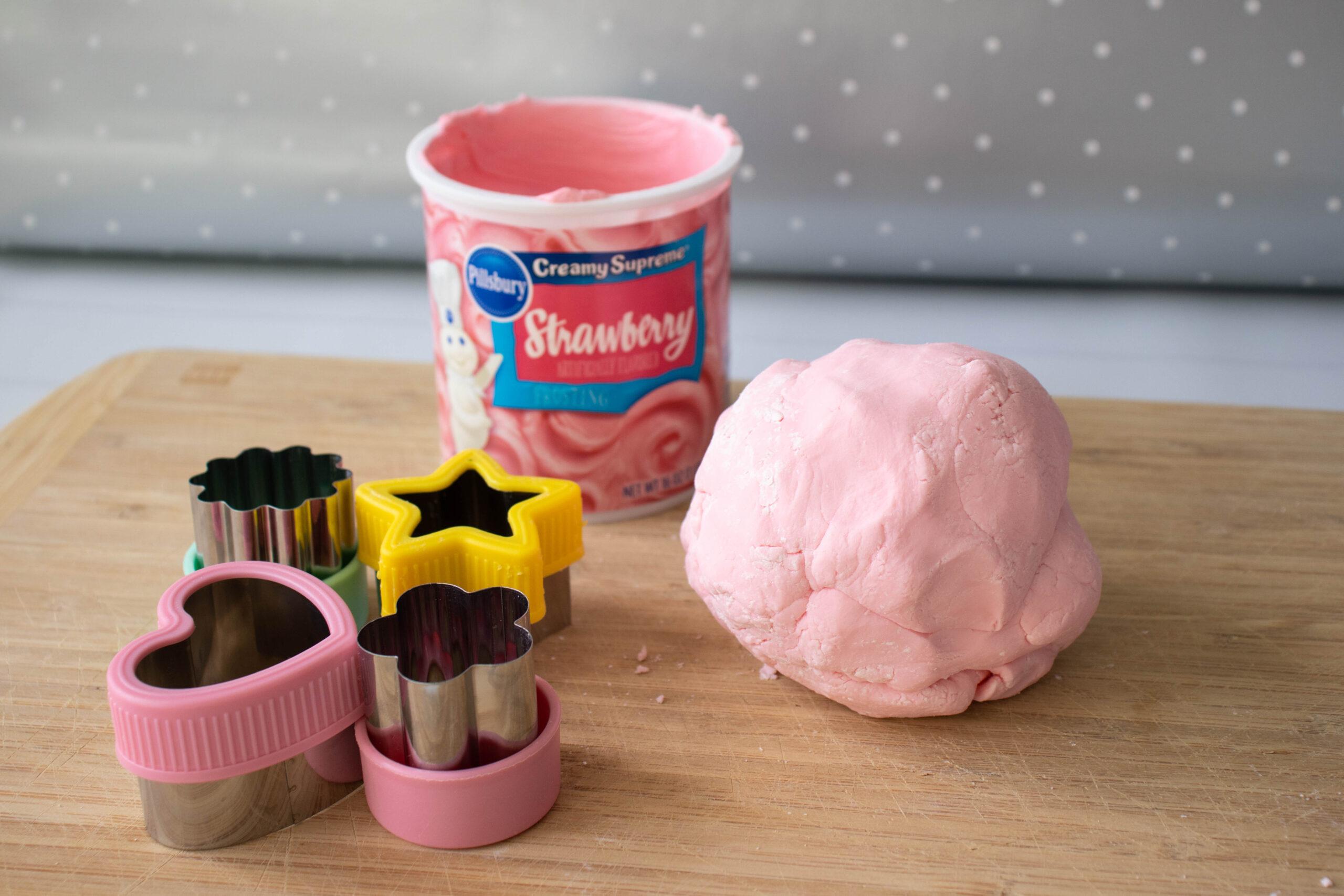 2 Ingredient edible strawberry PlayDough