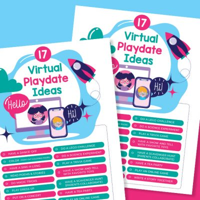 17 Virtual playdate ideas for kids with Printable