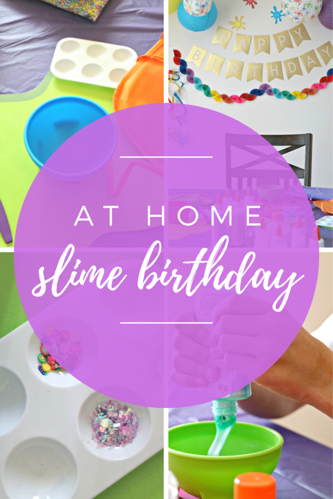 at home slime birthday party