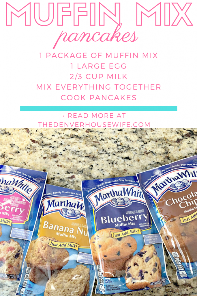 3 ingredient muffin mix pancakes