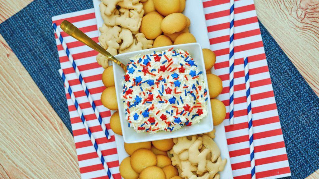 4th of July Dunkaroo Cake Batter Dip