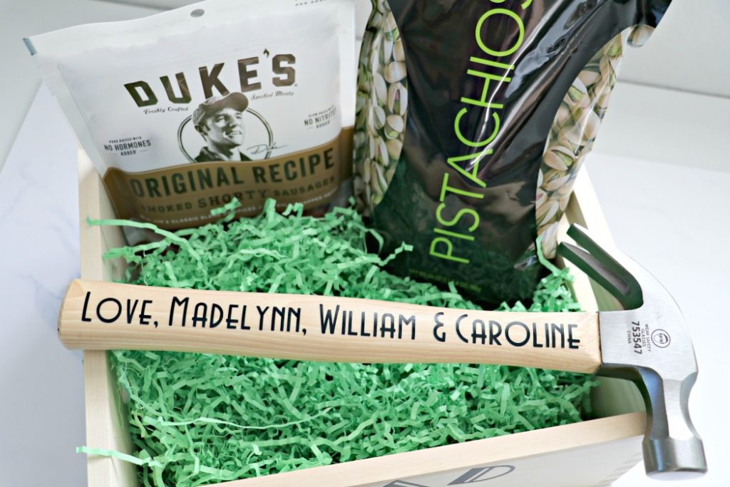 Cricut Dad Hammer Gift Basket