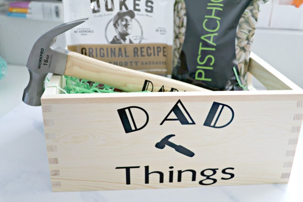 DIY Dad Crate Gift Basket