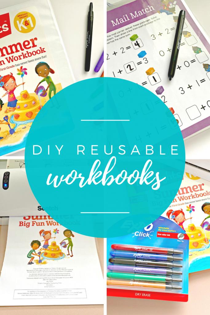DIY reusable workbooks for children