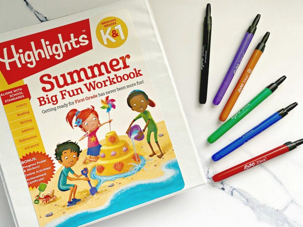 Highlights reusable workbooks for kids