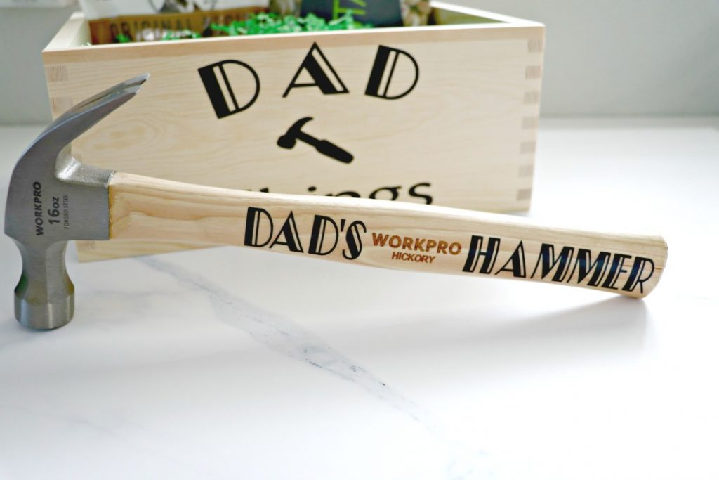 How to make a dad hammer gift from kids cricut