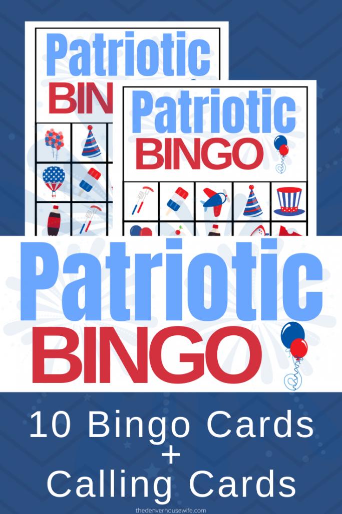 Patriotic Bingo Game Free Printable