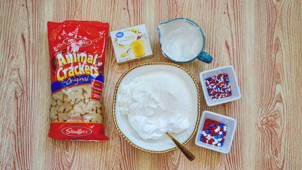 Patriotic Dunkaroo dip for kids