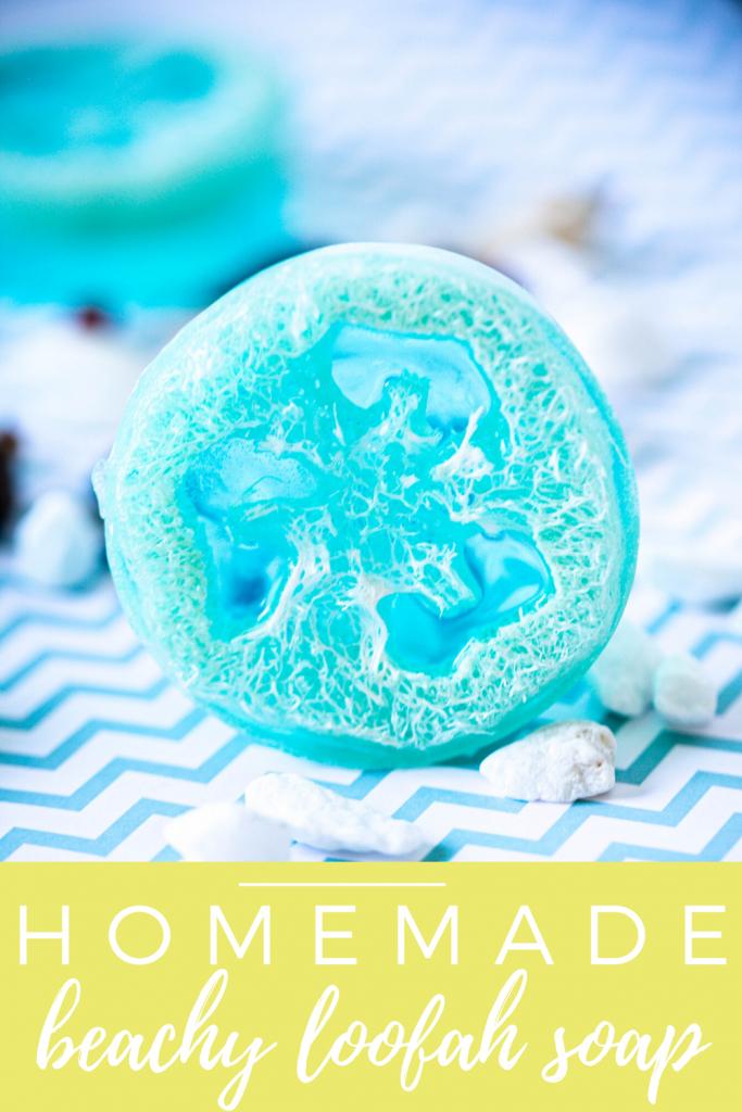 homemade beachy loofah soap