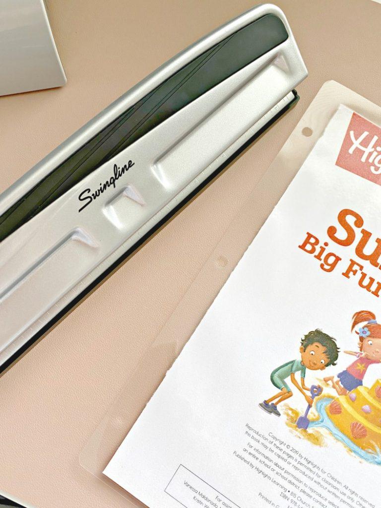 homemade reusable workbooks for kids
