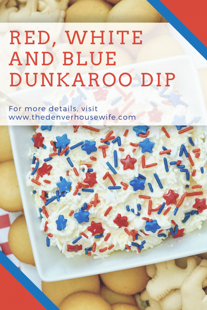 red white and blue dunkaroo dip