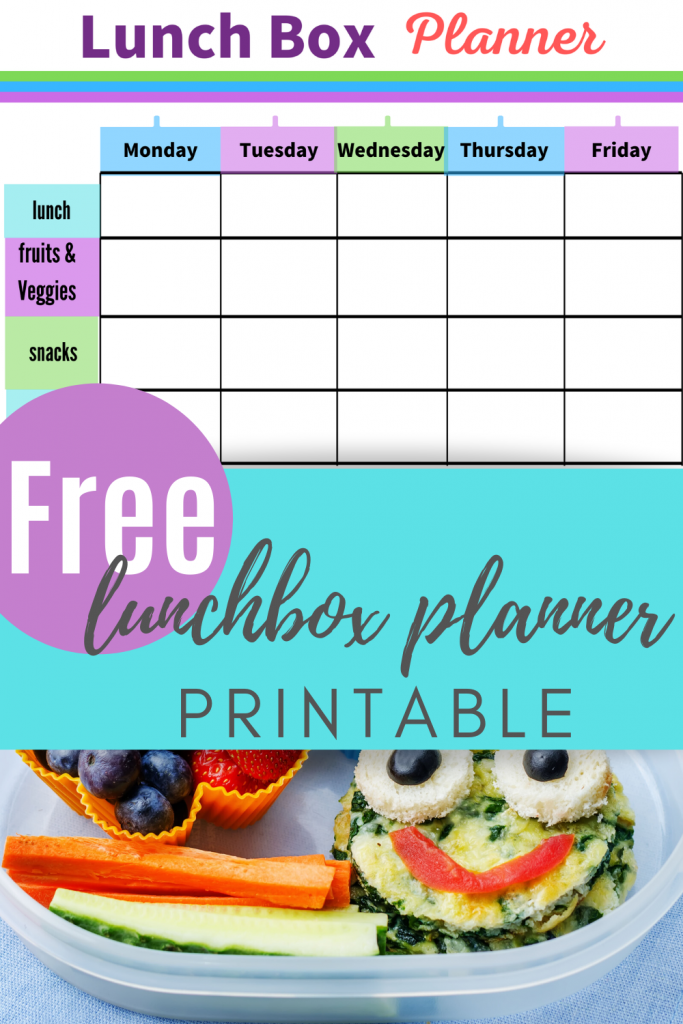 Free Lunchbox planner with printable + notes