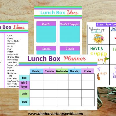Lunchbox Menu Planner for Kids