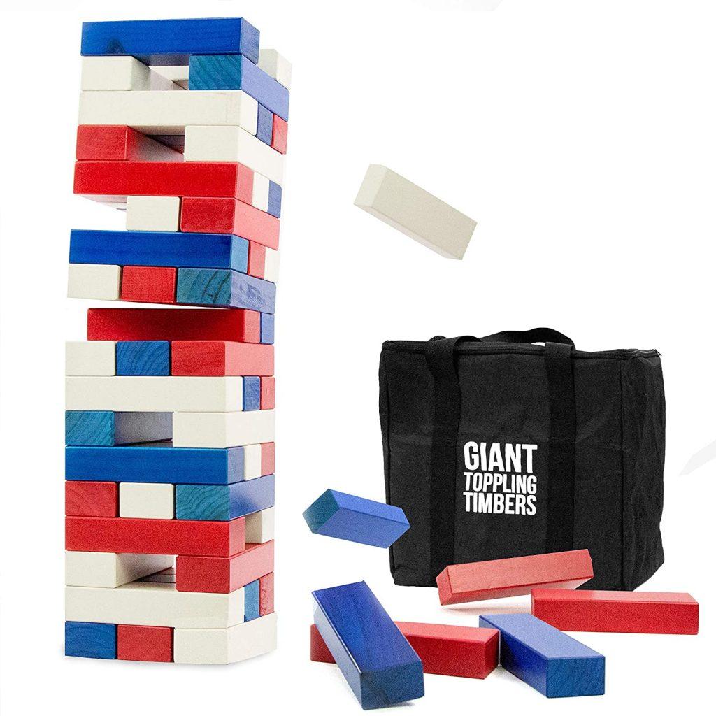 Patriotic Giant Jenga Outdoor Game