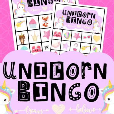 FREE PRINTABLE UNICORN BINGO