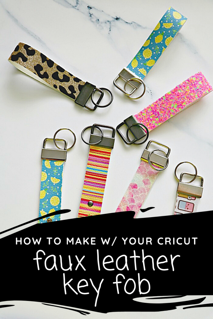 how to make faux leather key fobs with your cricut