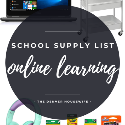 Remote or Online Learning School Supplies