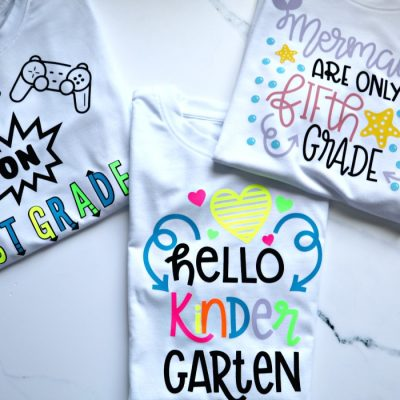 Personalize back-to-school shirts for kids with Cricut