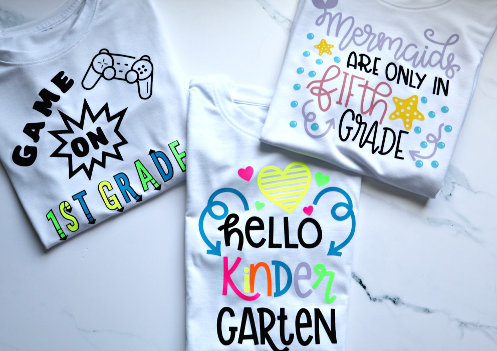 Back-to-School Cricut Personalized Shirts for Kids