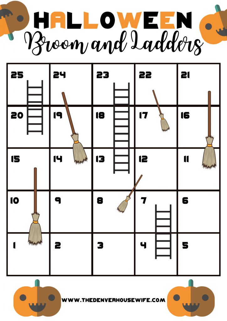 Brooms and Ladders Halloween Game