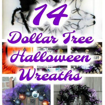 Dollar Tree Halloween Wreaths