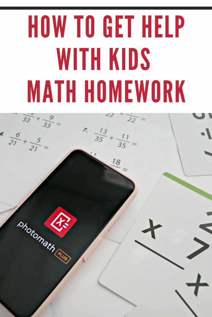 How to get help with kids math homework