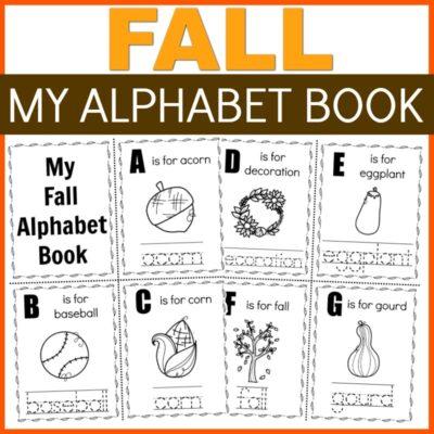 Fall Alphabet ABC Book Printable