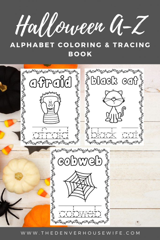 Halloween Alphabet Coloring Book