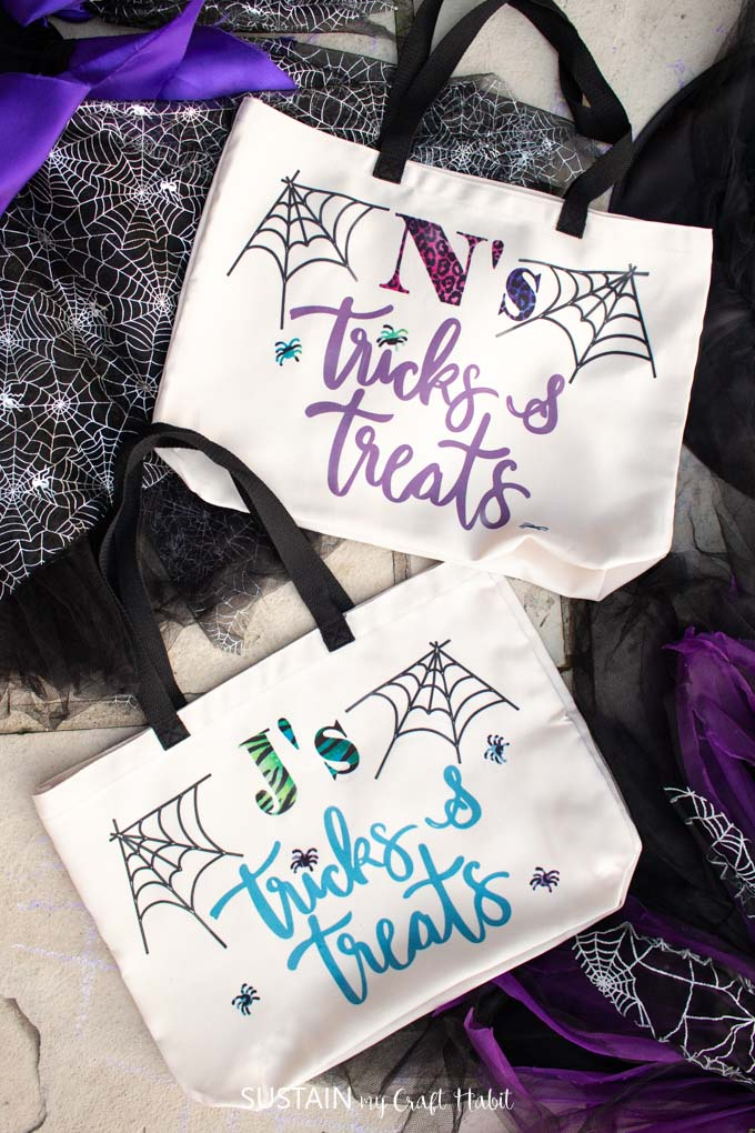 Cricut Halloween Trick or Treat Bags