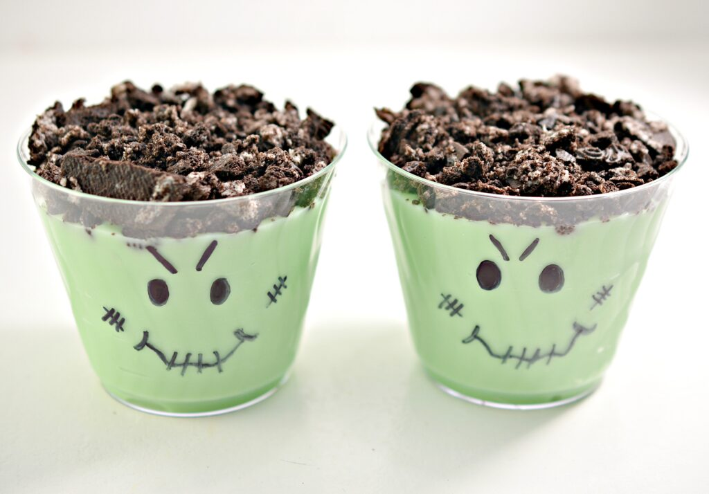 Halloween Monster Dirt Pudding Cups