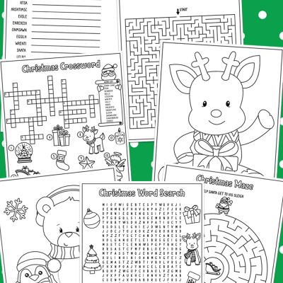 Christmas Activity pages for kids