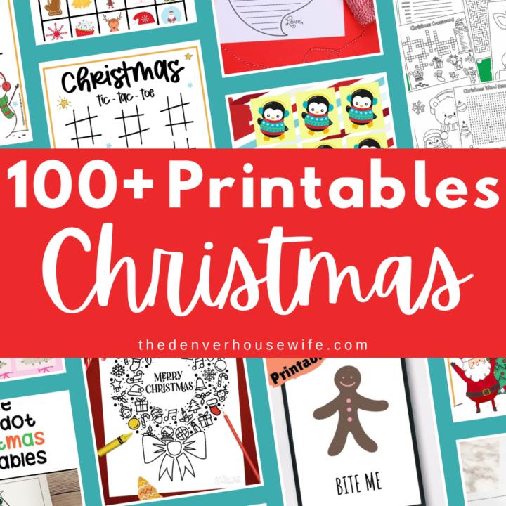 100+ Christmas Printables for Kids