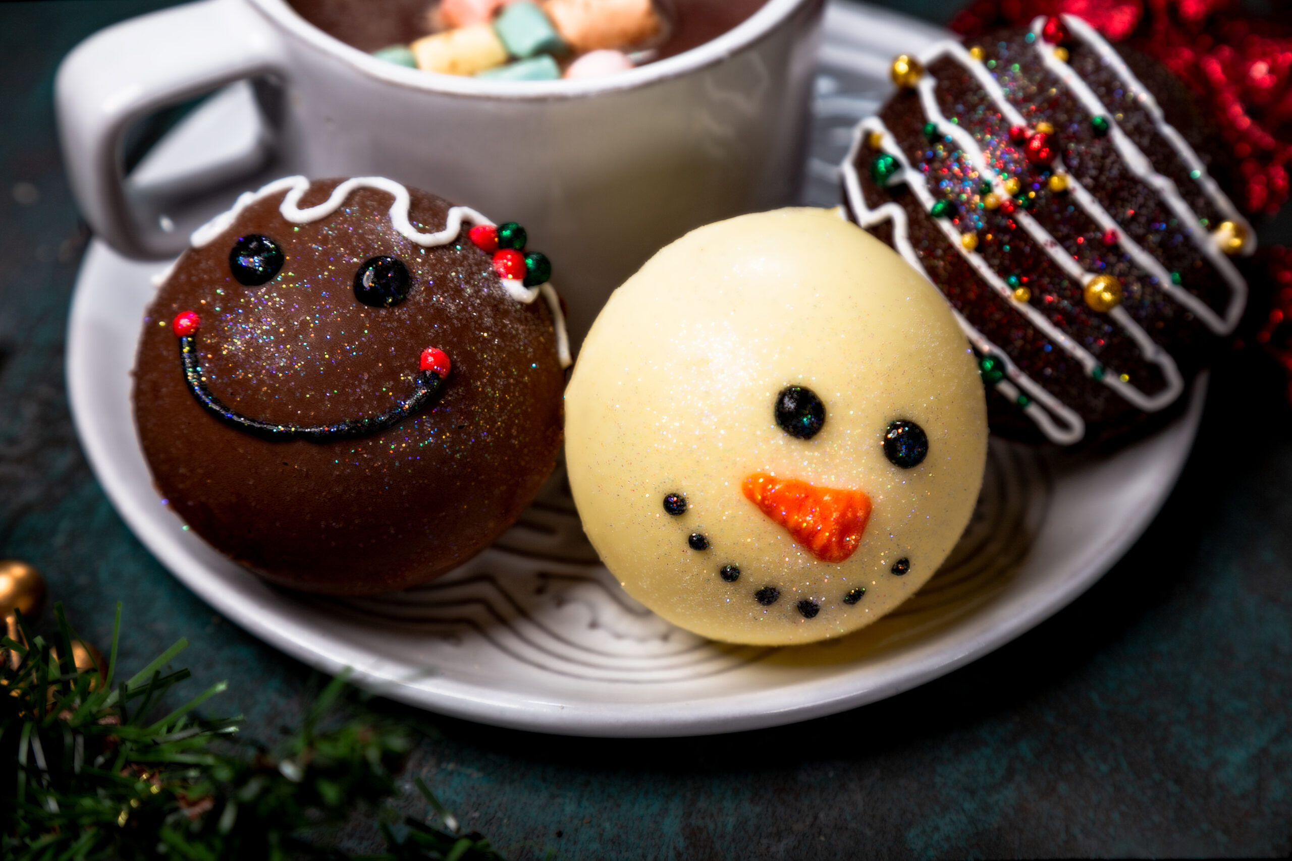 Christmas Themed Hot Chocolate Bomb Flavors