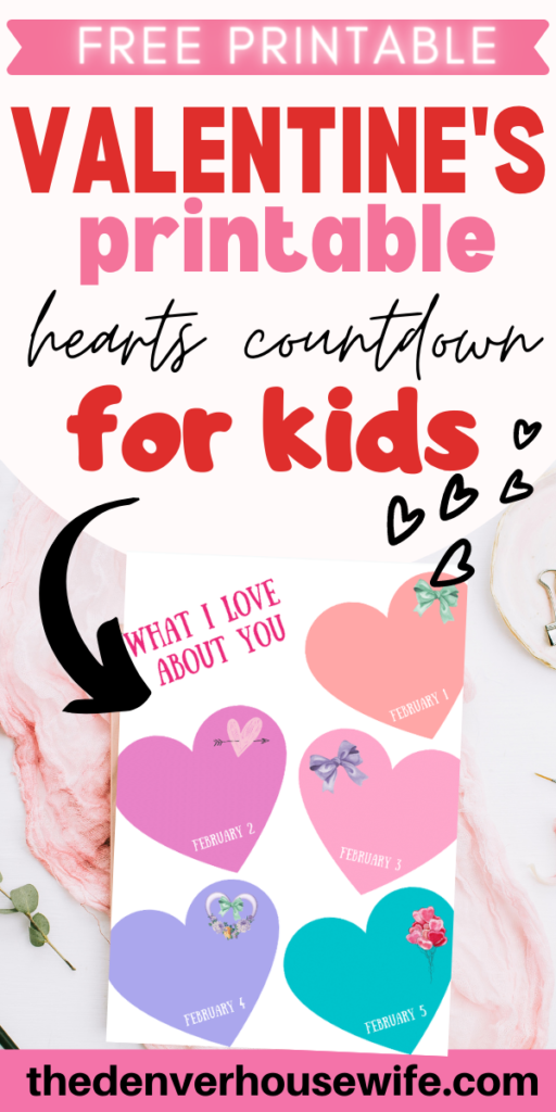 Printable Hearts Valentine for Kids
