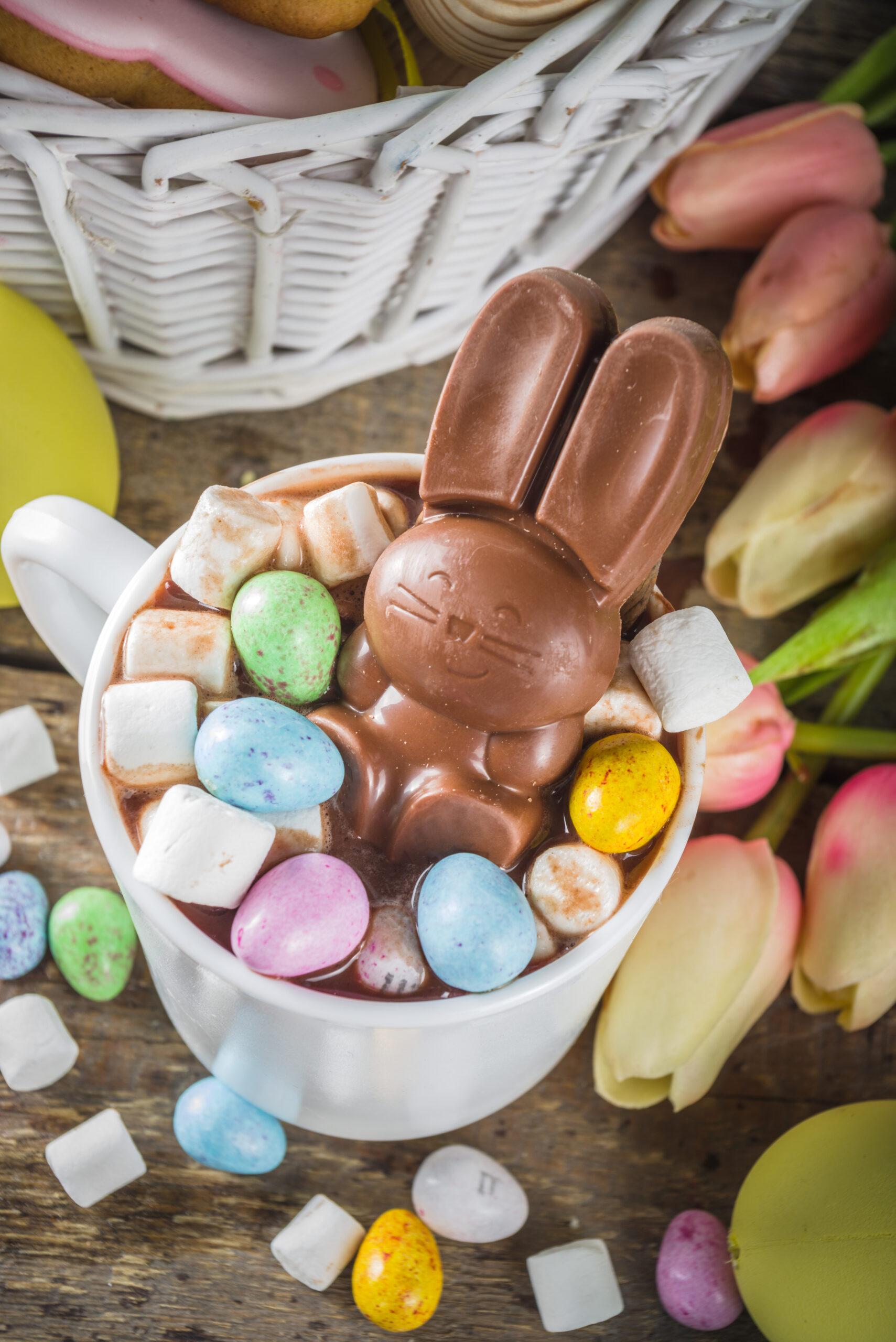 Easter bunny hot chocolate bomb