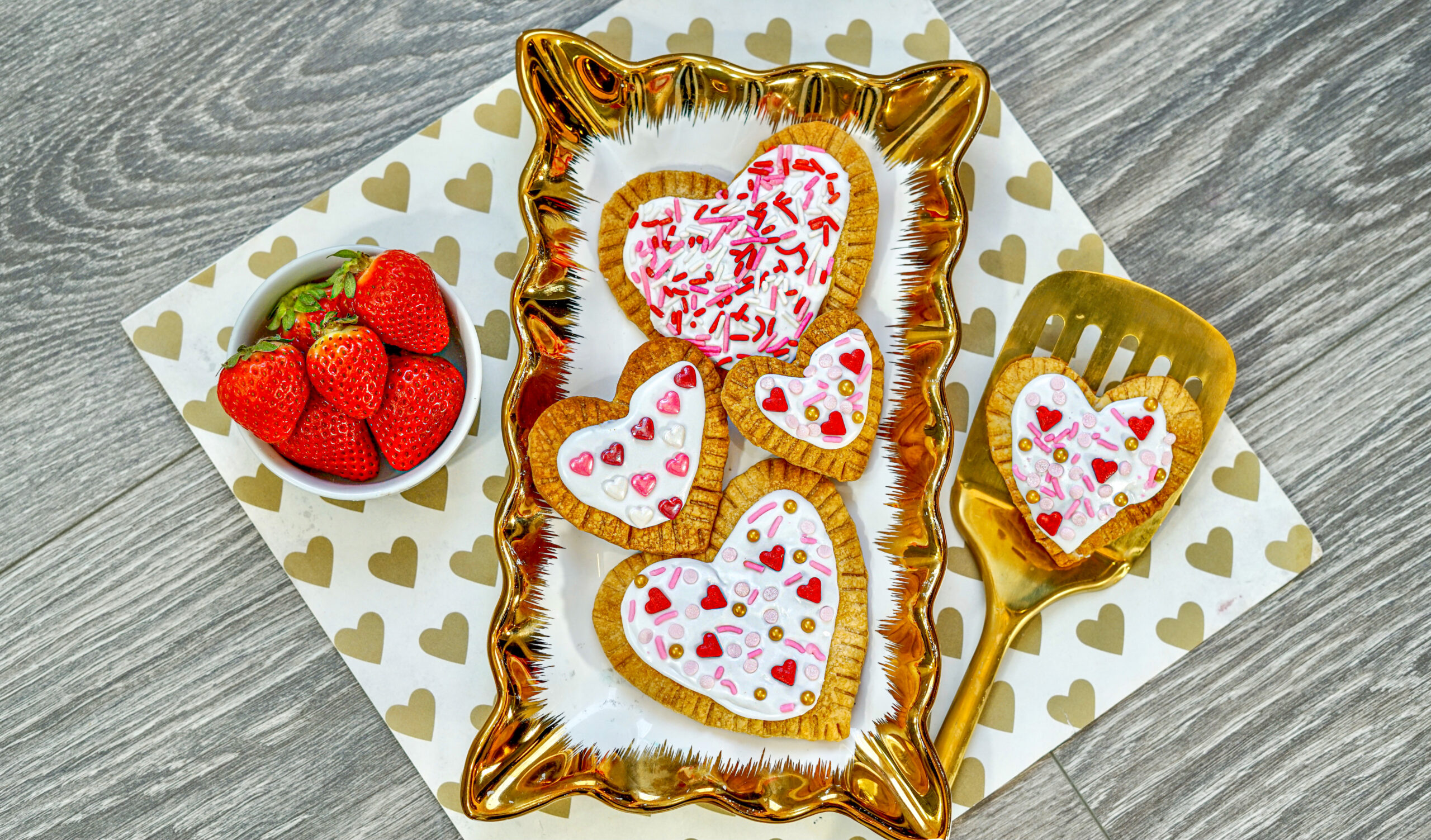 HEART Strawberry Air Fryer Pop-Tarts