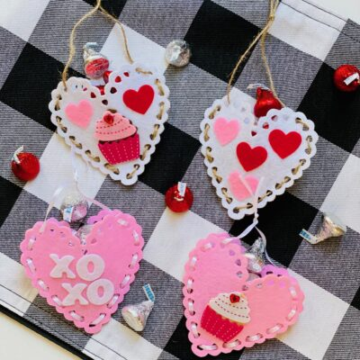 Valentine's Day Felt Heart Pouches for Kids